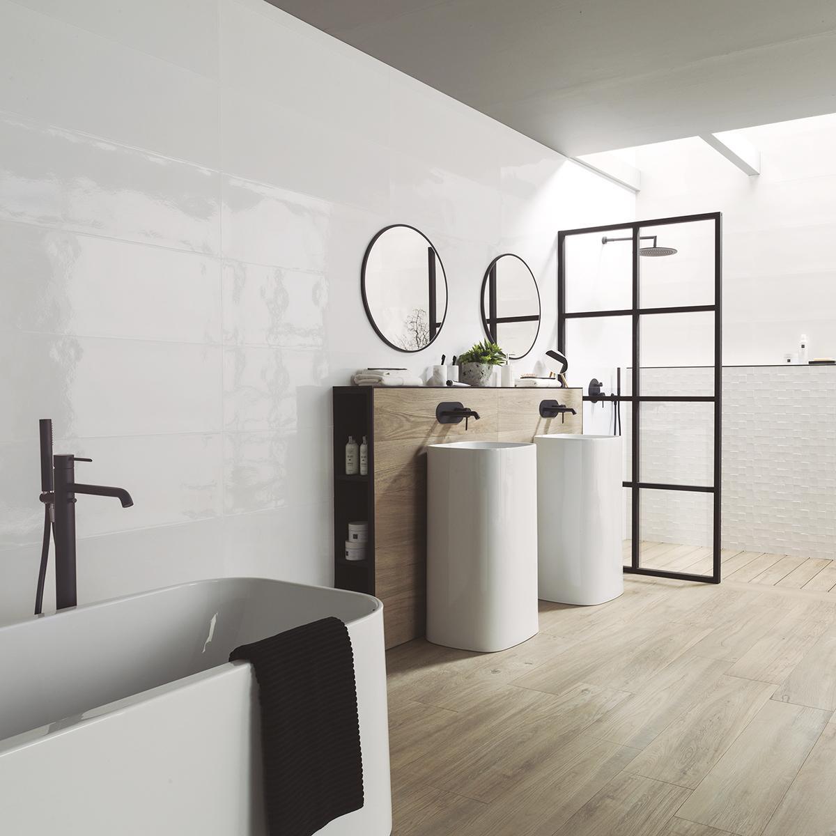 Mayólica Studio Blanco Brillante - 31.6X90 cm - 1.14 m2