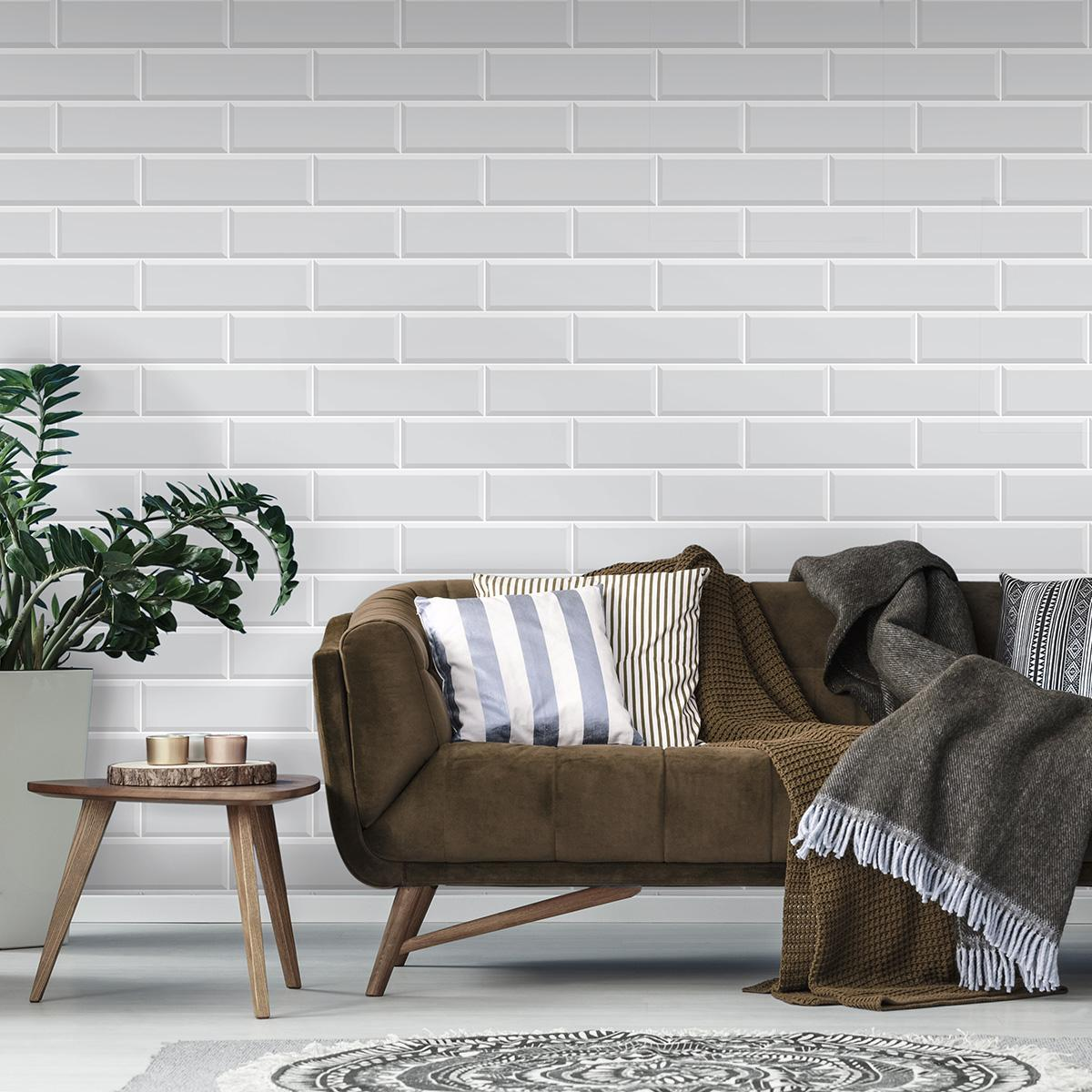 Mayólica Brick Blanco - 12X40 cm - 1.39 m2
