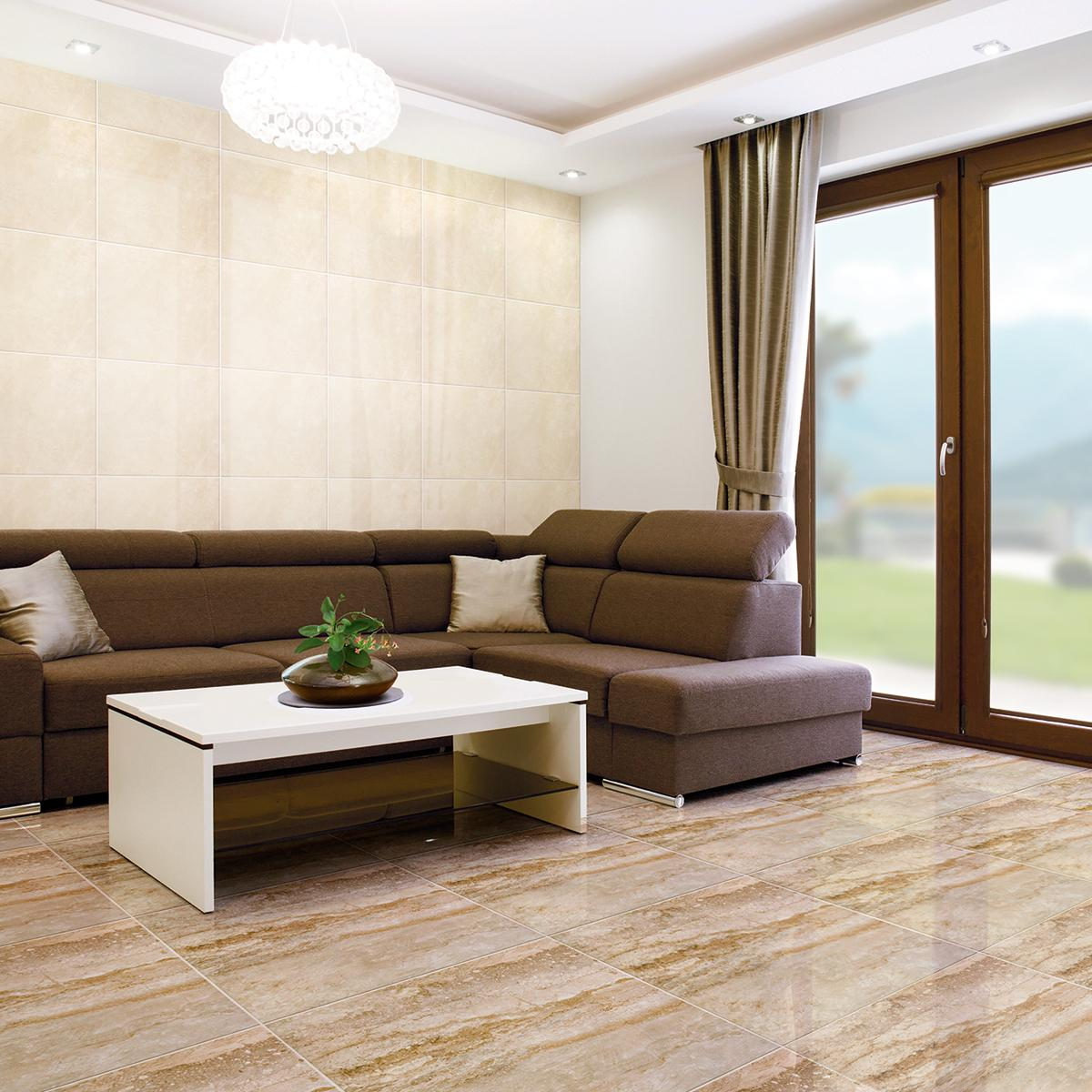 Piso Victoria Beige Brillante - 60X60 cm - 1.80 m2