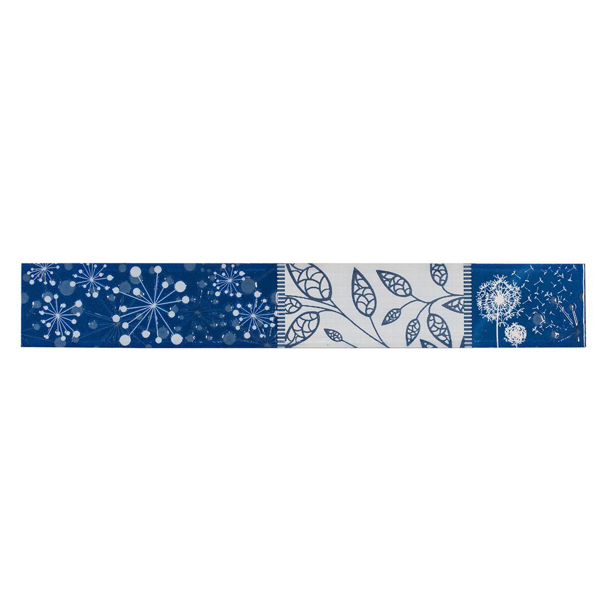 Listelo Decorado Azul Brillante - 6X39.5 cm - 1 pza