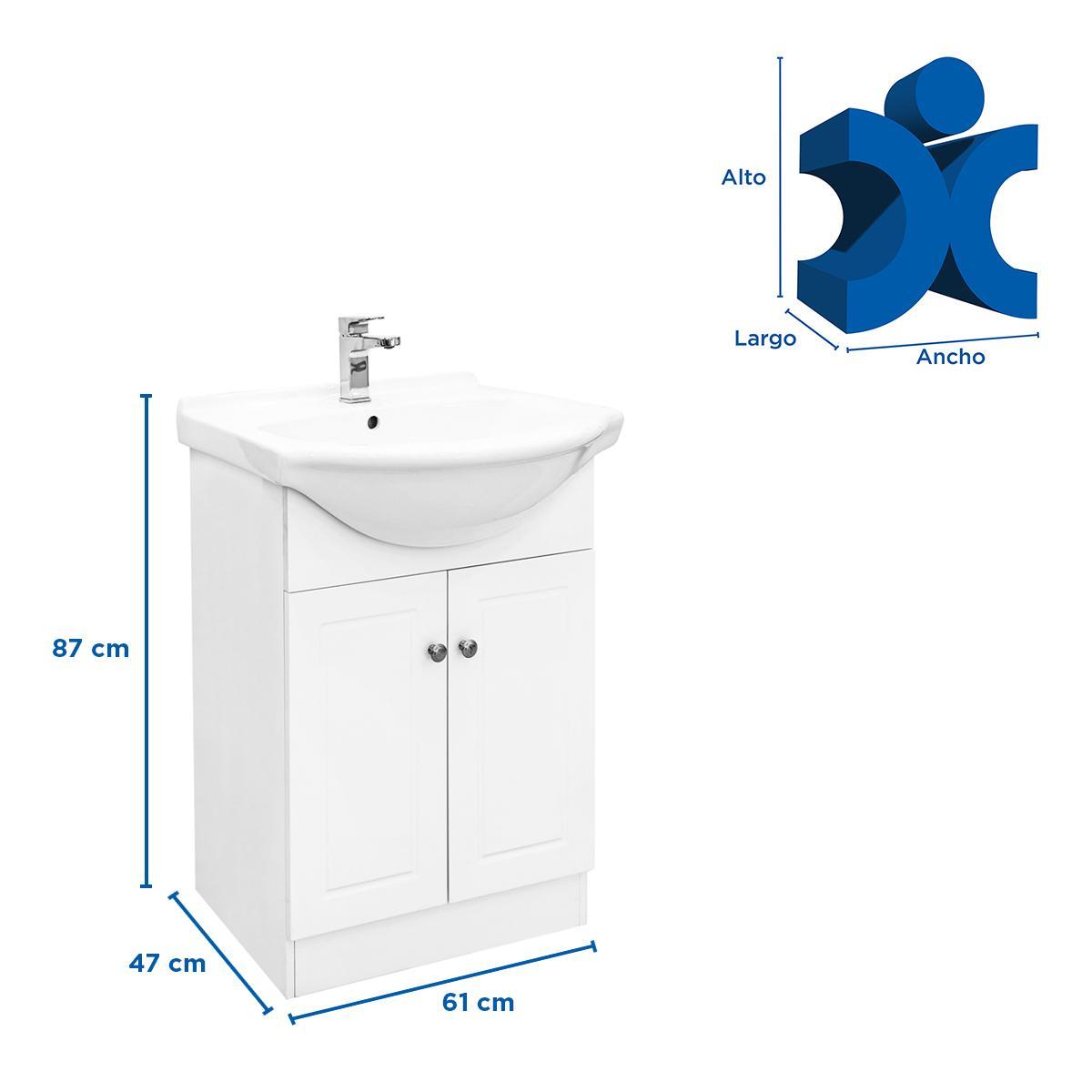 Mueble Para Baño Vancouver - Blanco