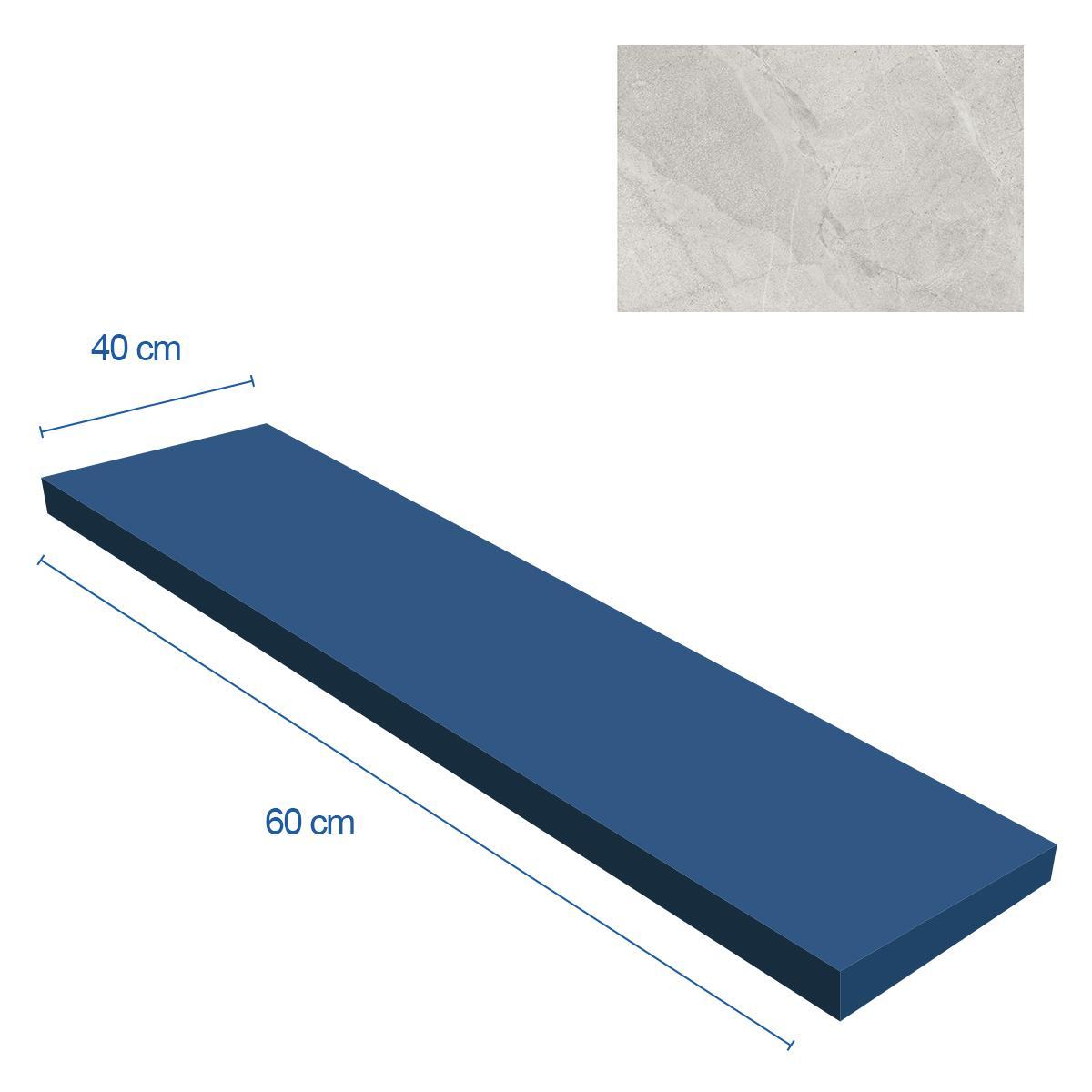 Porcelanato Blue Savoy Blanco Mate - 40X60 cm - 0.96 m2