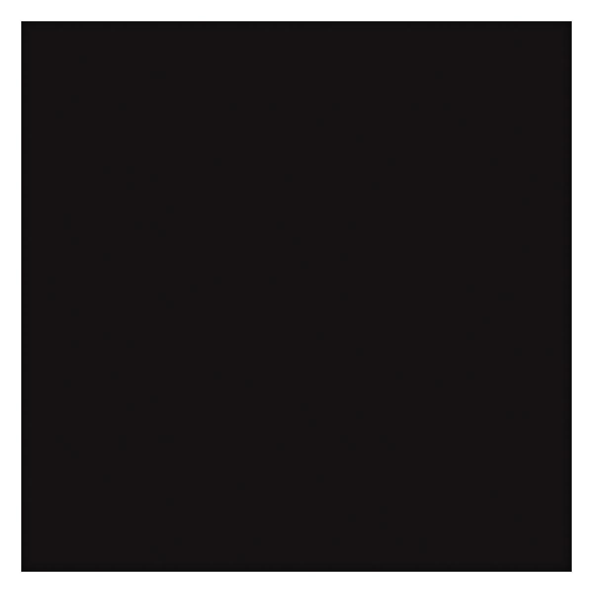 Porcelanato Unicolor Negro Brillante - 60X60 cm - 1.44 m2