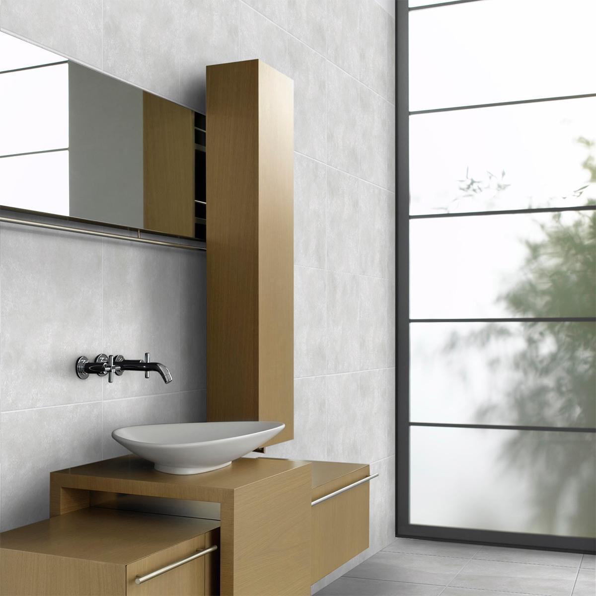 Piso Concreto Plateado Mate - 45X45 cm - 2.08 m2