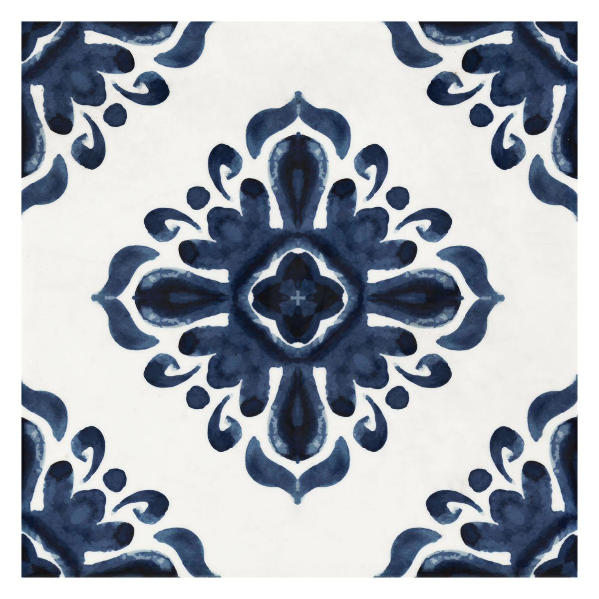 Mayólica Patch Blanco/Azul Brillante - 20X20 cm - 1.48 m2