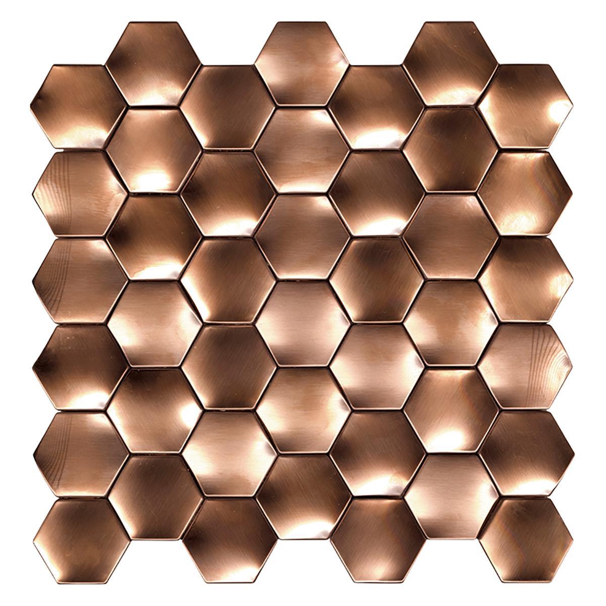 Mosaico Web Bronce Brillante - 29.1X29.3 cm - 1 pza