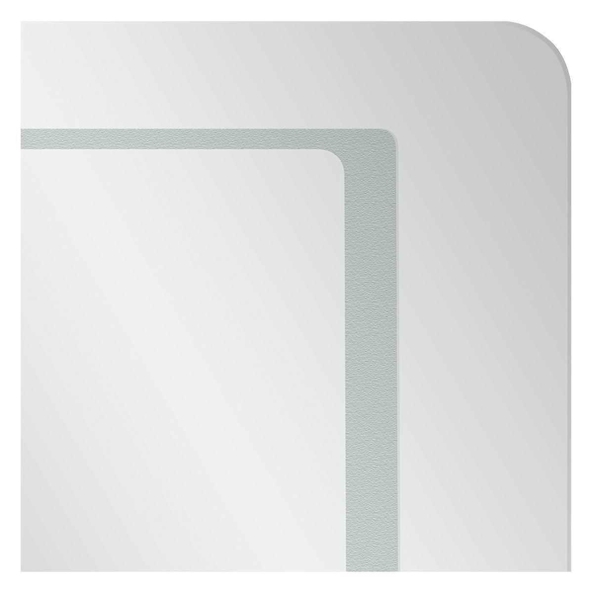 Espejo Square 2 Cristal Luz LED