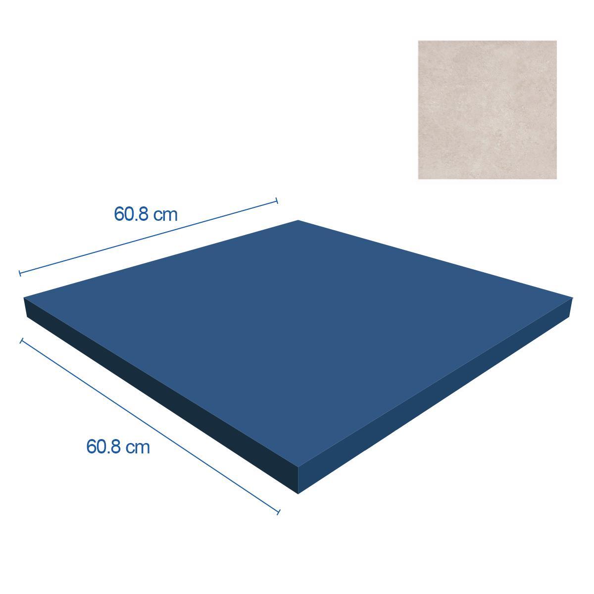 Porcelanato Sena Marfil Mate - 60.8X60.8 cm - 1.48 m2