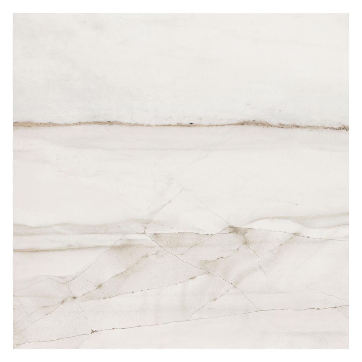 Porcelanato Fossile Beige/Blanco Brillante - 59X59 cm - 1.39 m2