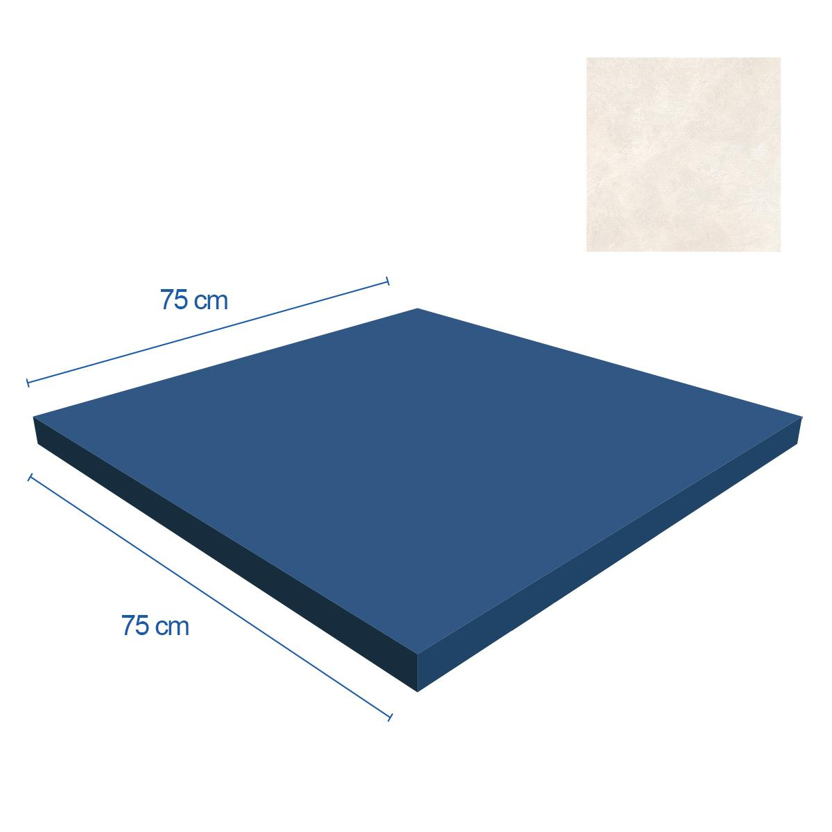 Porcelanato Magnetic Beige Mate - 75X75 cm - 1.13 m2
