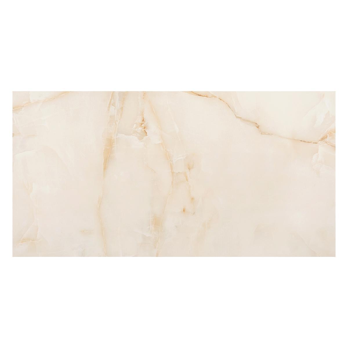 Porcelanato Onyx Beige Brillante - 60X120 cm - 1.44 m2