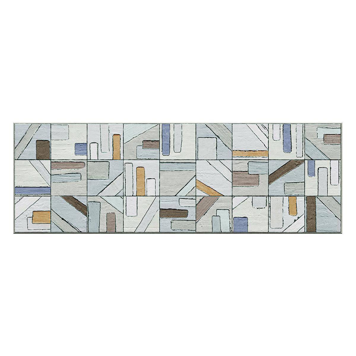 Mayólica Mod Celeste/Verde Mate - 33.3X100 cm - 2 m2