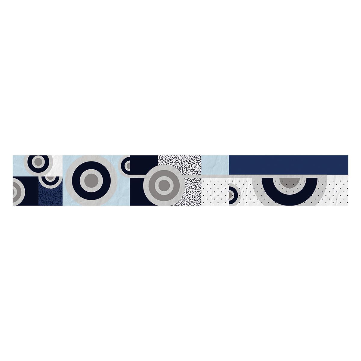 Listelo Gabriela Azul Brillante - 6X39.5 cm - 1 pza