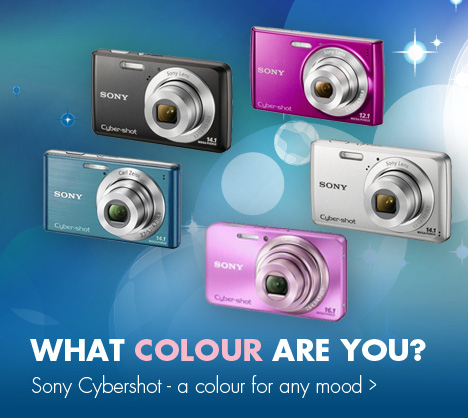 What colour are you? Sony Cybershot - a colour for any mood.
