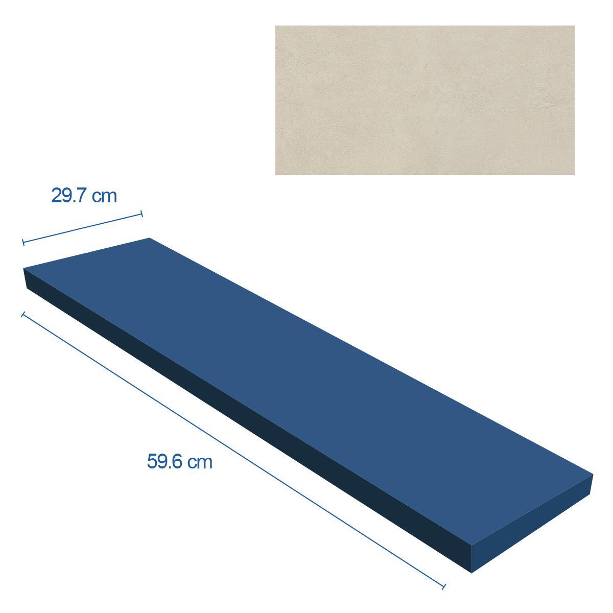 Porcelanato Morse Beige Mate - 29.7X59.6 cm - 0.88 m2