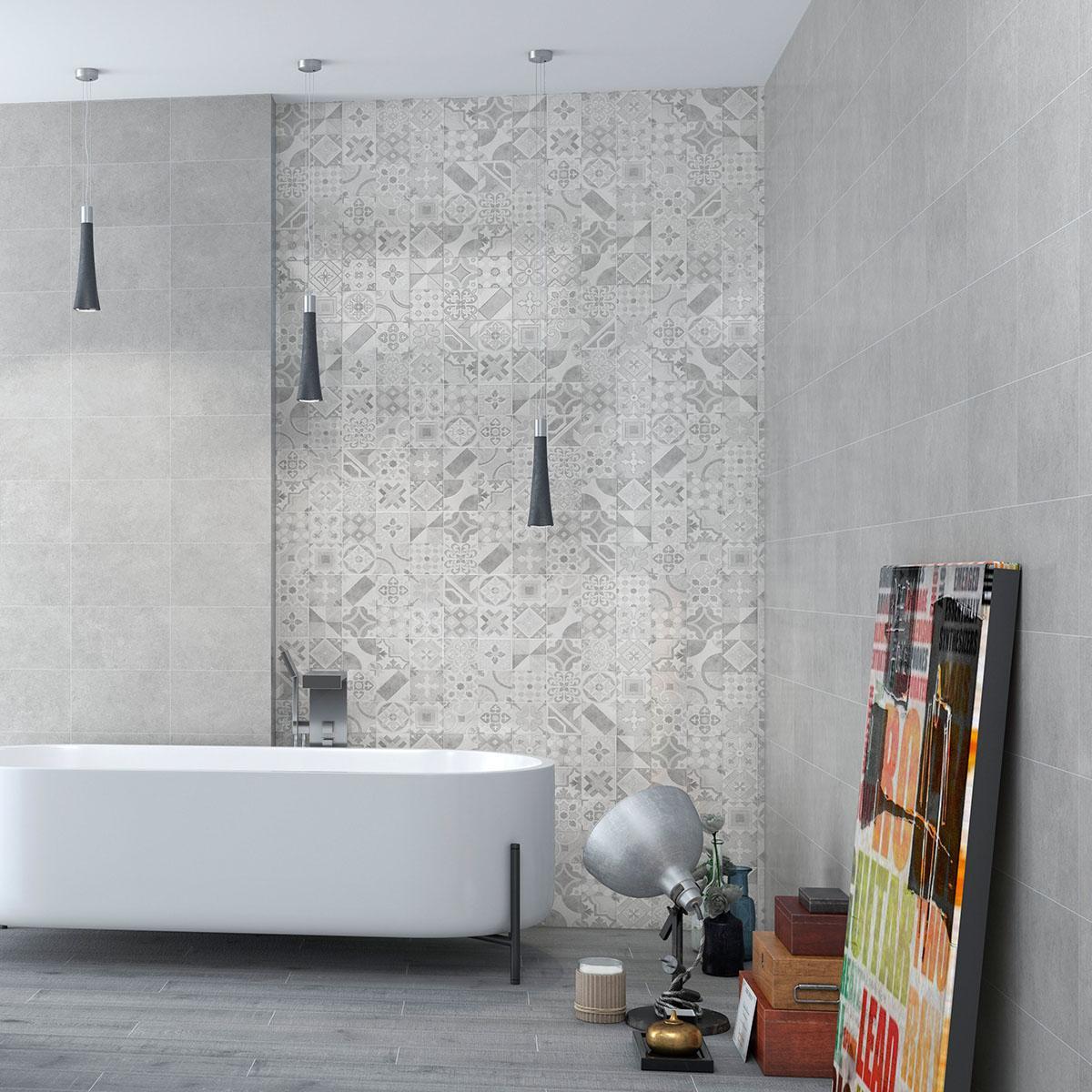 Mayólica Canova Gris Brillante - 25X40 cm - 1.70 m2