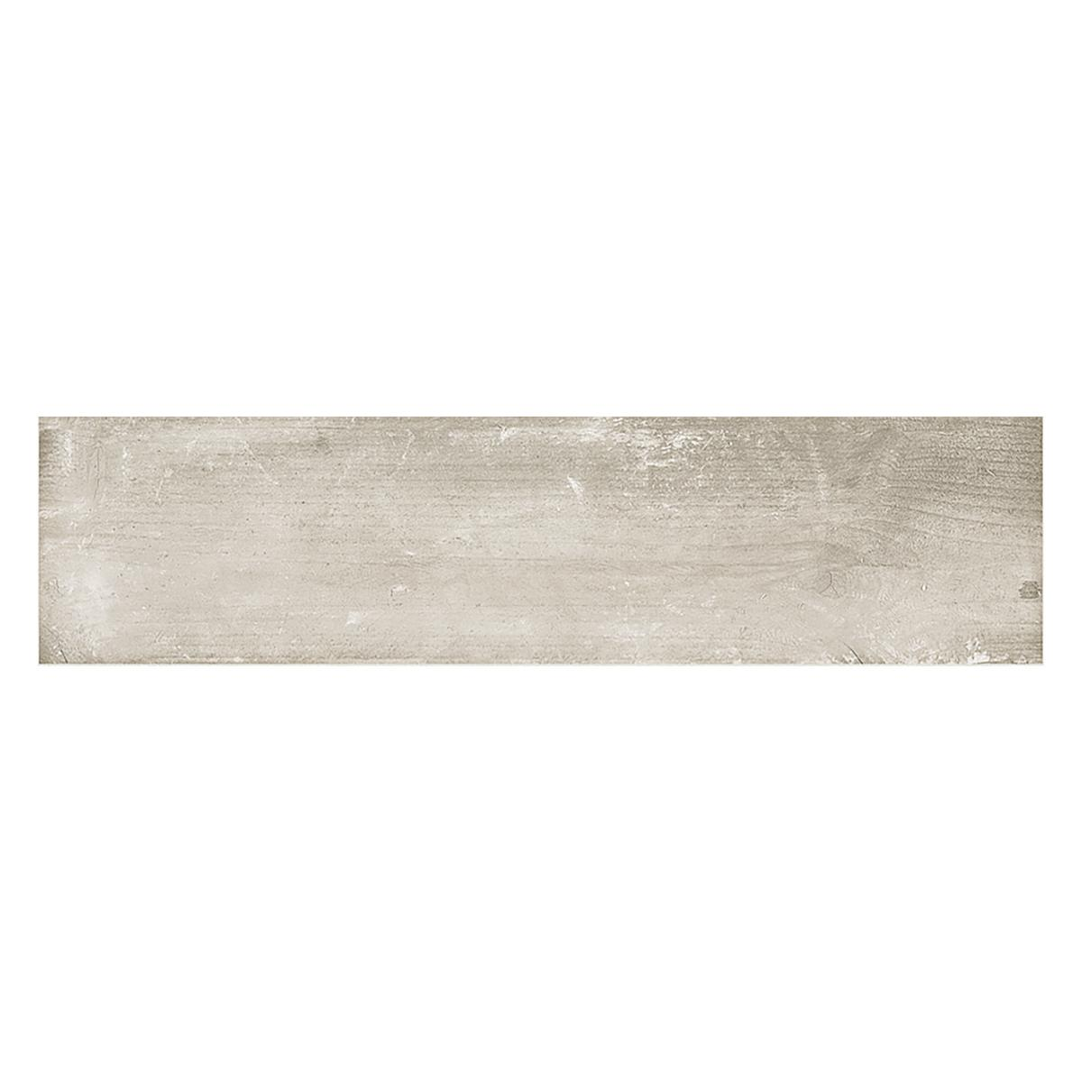 Porcelanato Riverside Blanco/Gris Mate - 15X60 cm - 1.26 m2