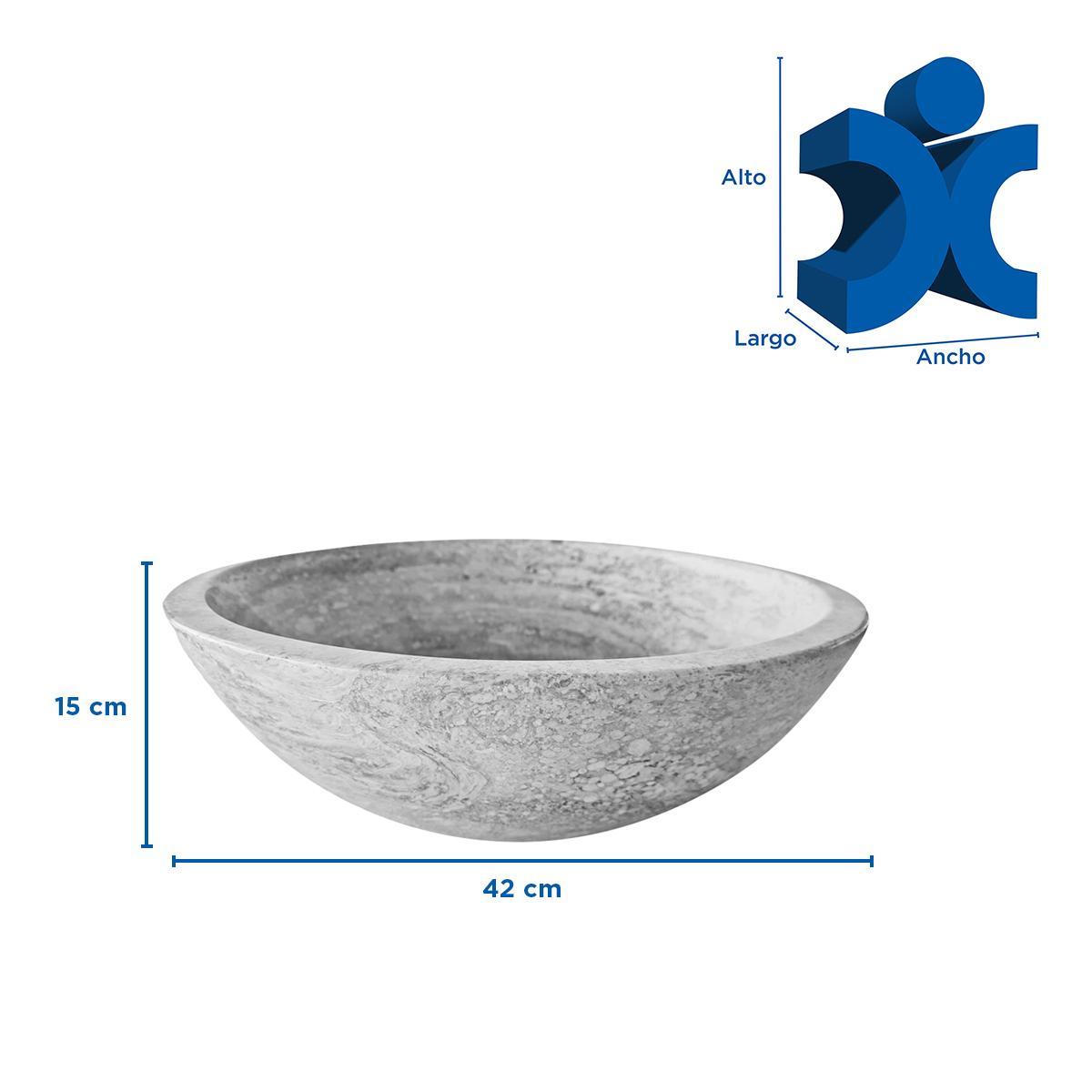 Ovalin Circular Para Sobreponer - Crema/Negro