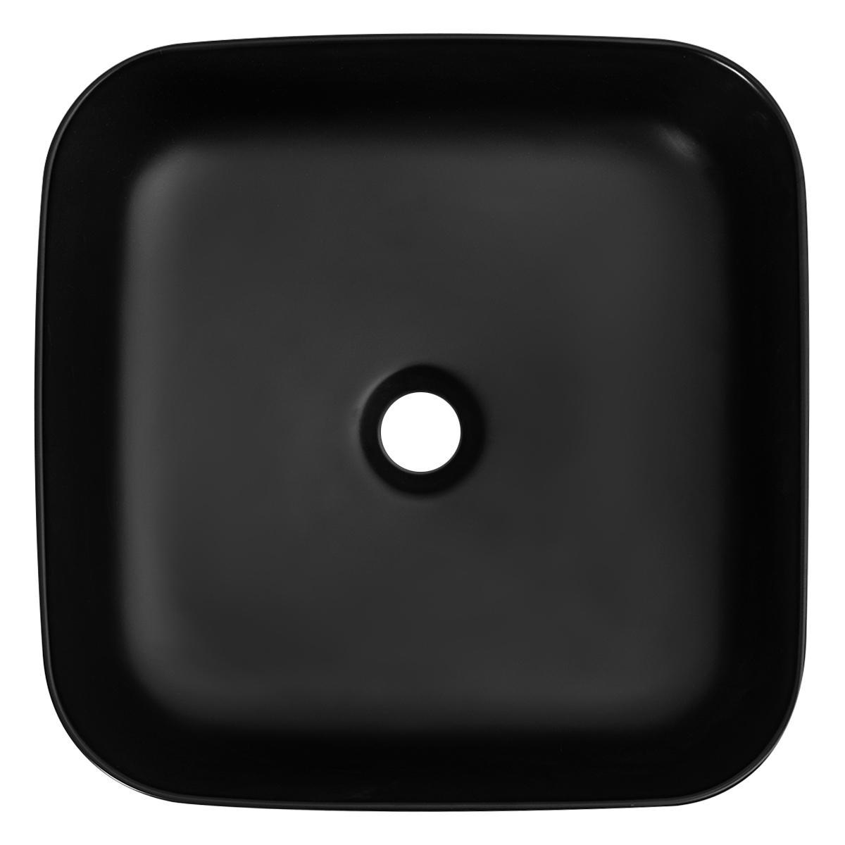 Bowl Lutxi Cuadrado Negro Mate - 3.85X3.85X14 cm