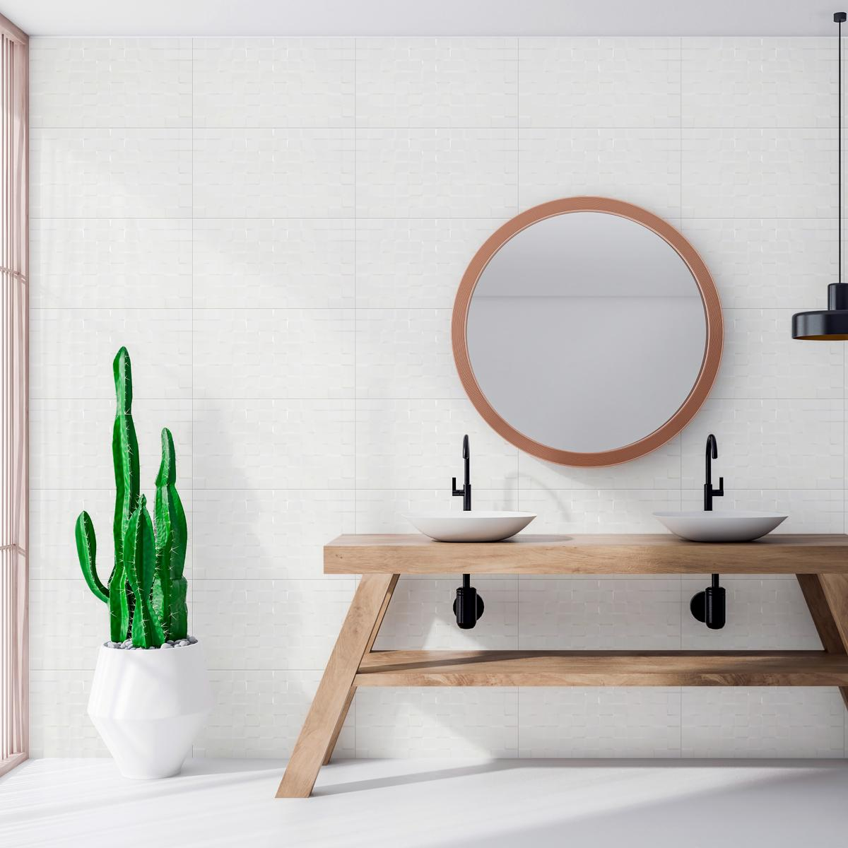 Mayólica Cubic Blanco Brillante - 33X55 cm - 1.84 m2