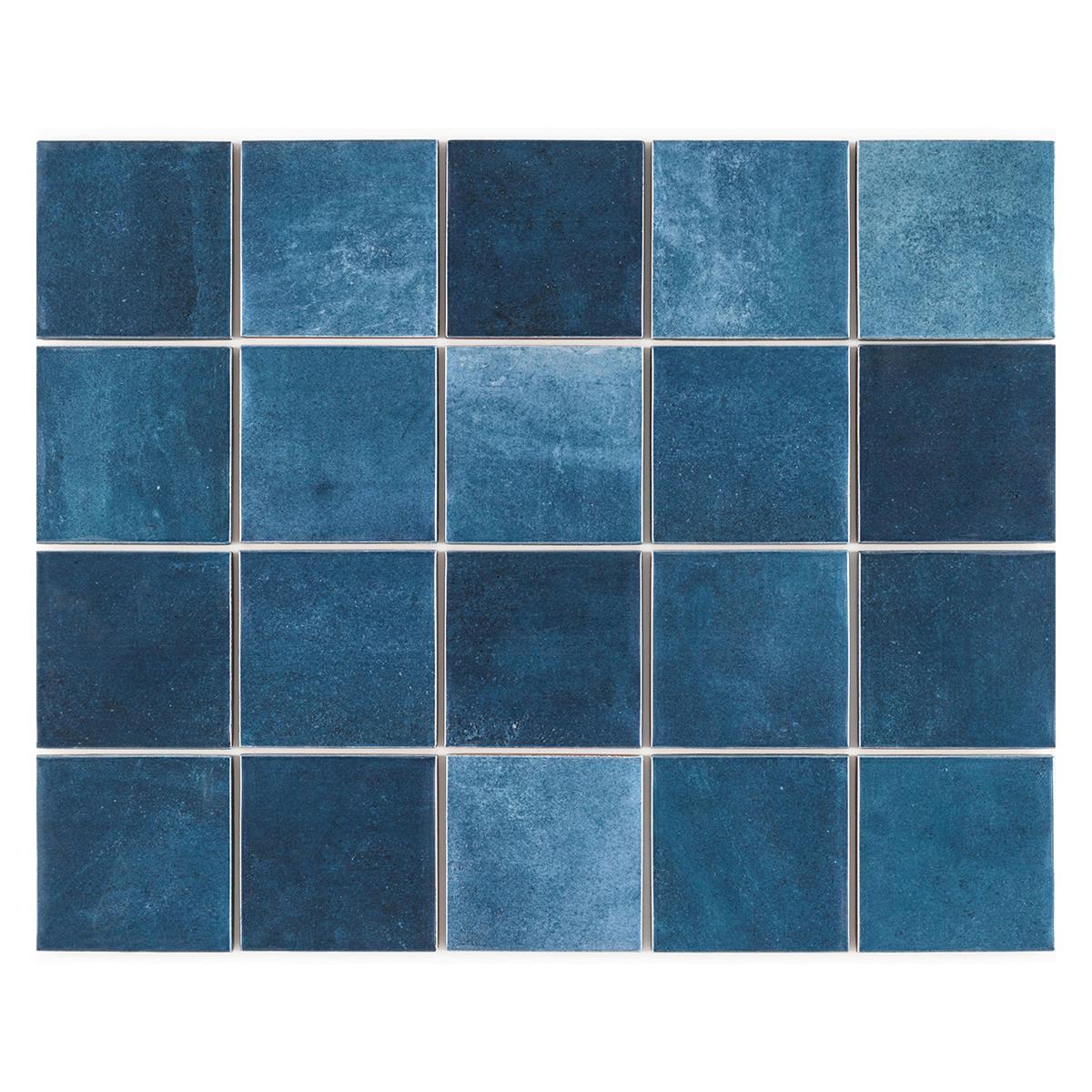 Gres Porcelánico Noronha Azul Brillante - 7.5X7.5 cm - 1.59 m2