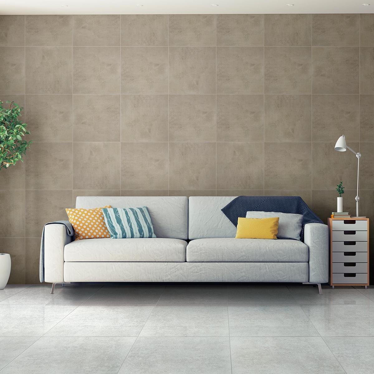 Piso Beton Gris Brillante - 60X60 cm - 1.80 m2