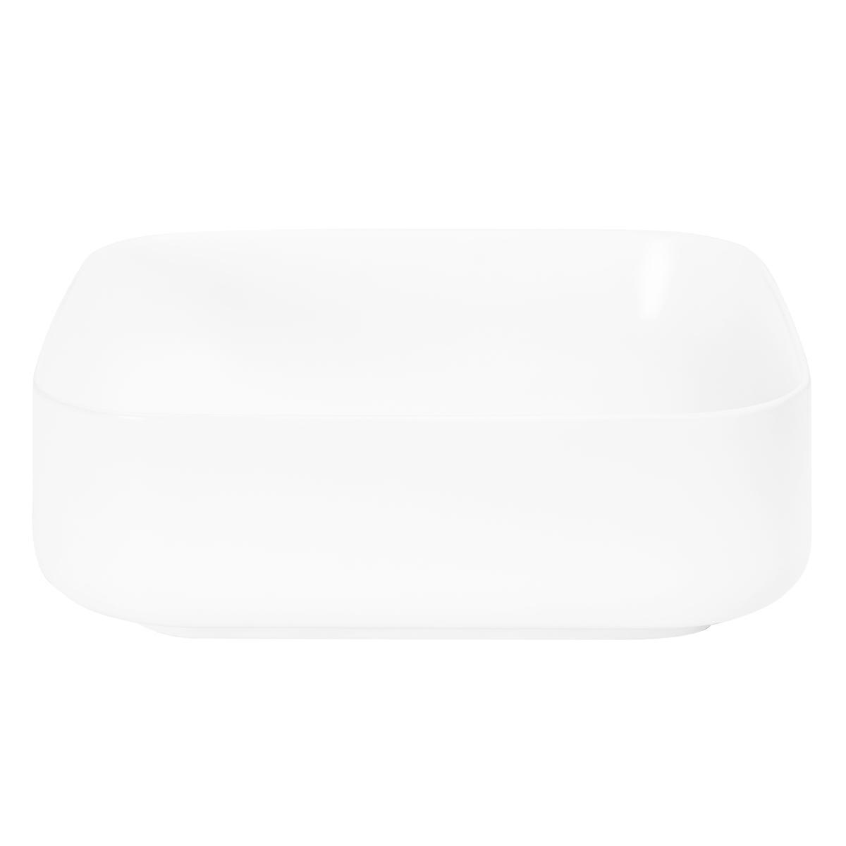 Bowl Lutxi Cuadrado Blanco Mate - 38.5X38.5X14 cm
