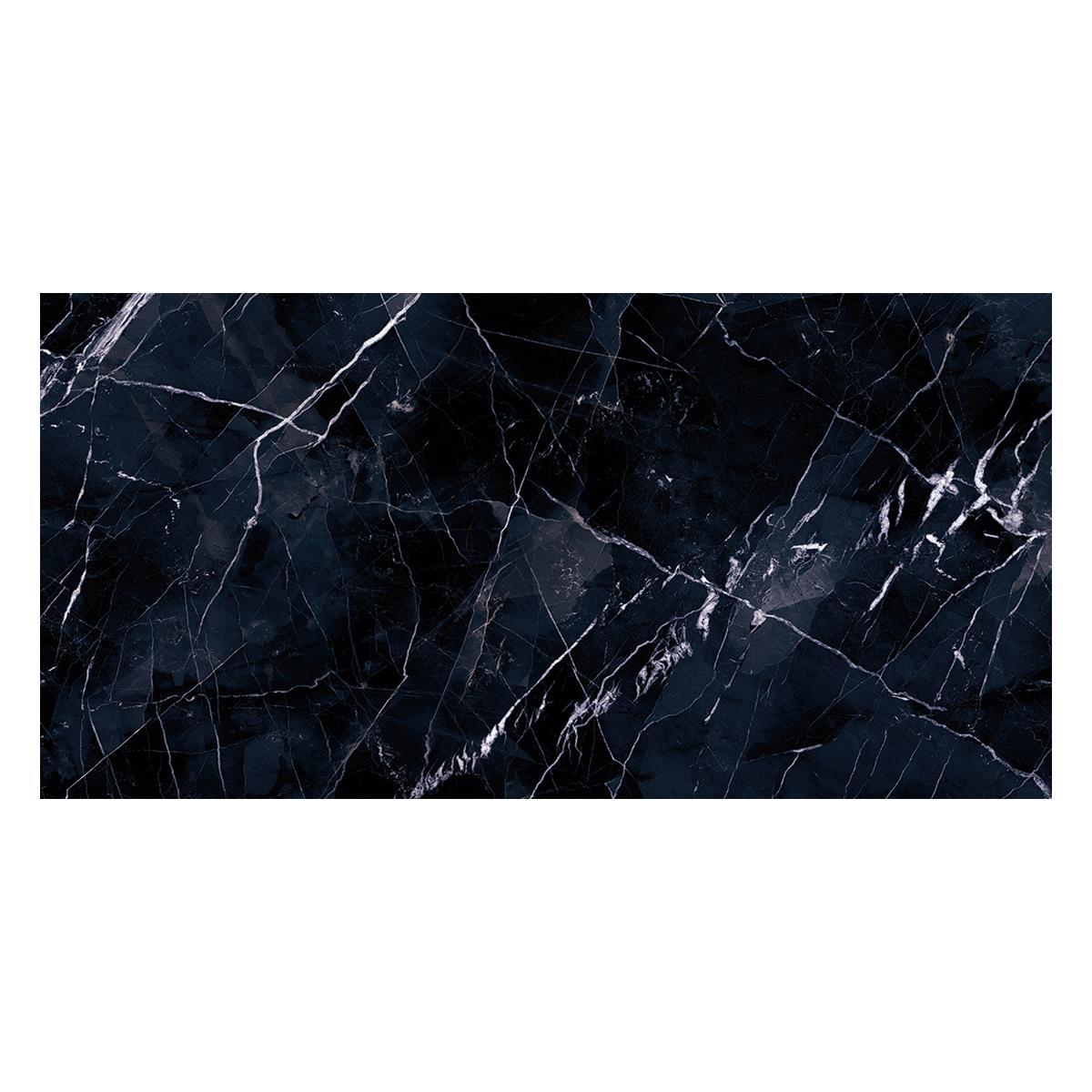 Porcelanato Tele Di Marmo Negro Brillante - 60X120 cm - 1.44 m2
