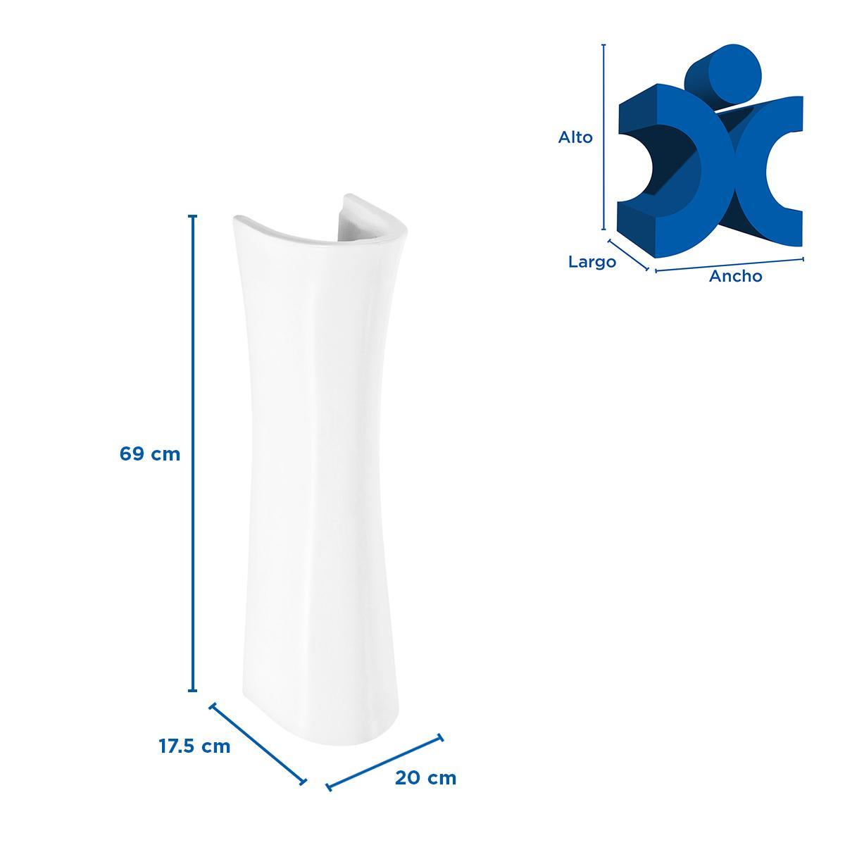 Pedestal Universal Al Piso - Blanco