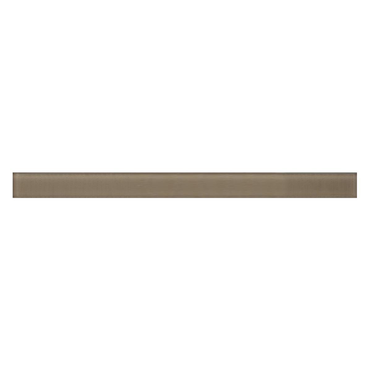 Lapiz Plumon Vidrio Vitre Beige Brillante - 3X39 cm