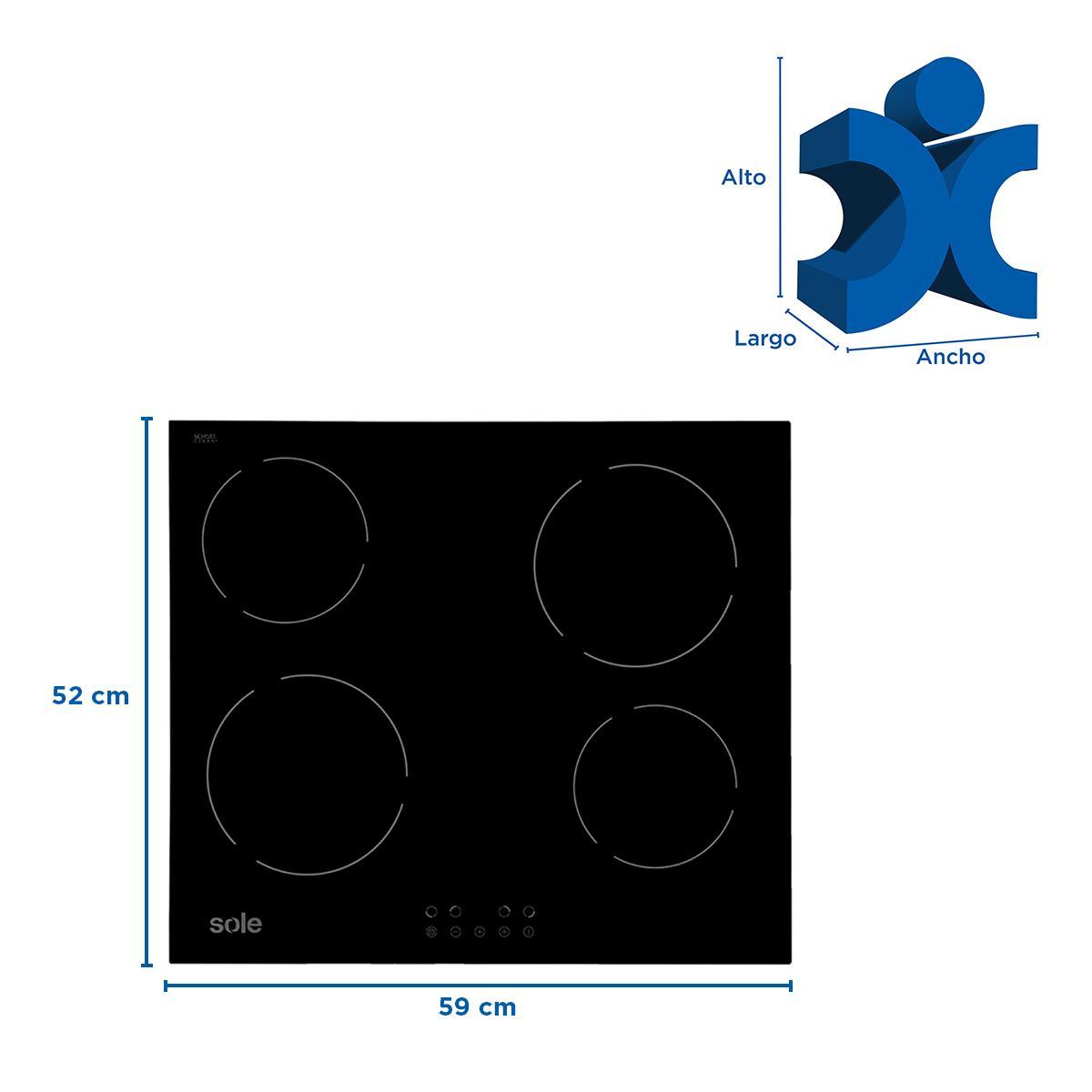 Cocina Eléctrica SOLCO021V2 Empotrable